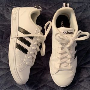 Adidas classic white and black sneakers